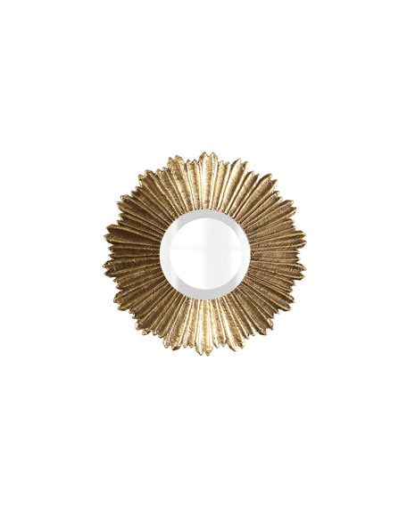 Soliel Small Gold Mirror