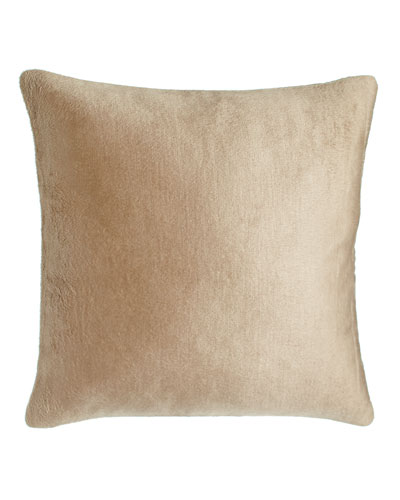 Luxe Silk Fleece Pillow, 20