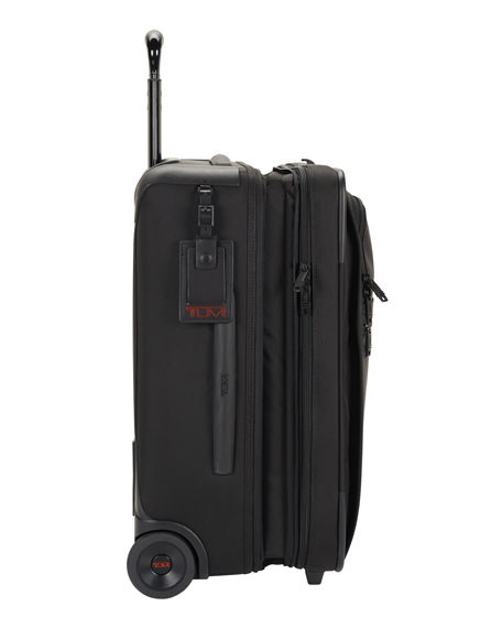 Alpha 2 Black International Expandable Two-Wheeled Carry-On Luggage