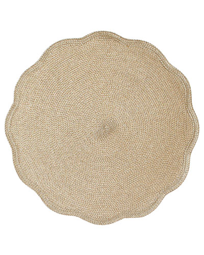 Glimmer Round Scalloped Placemat
