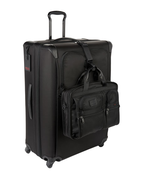 Alpha 2 Black Expandable Four-Wheeled Extended-Trip Packing Case Luggage