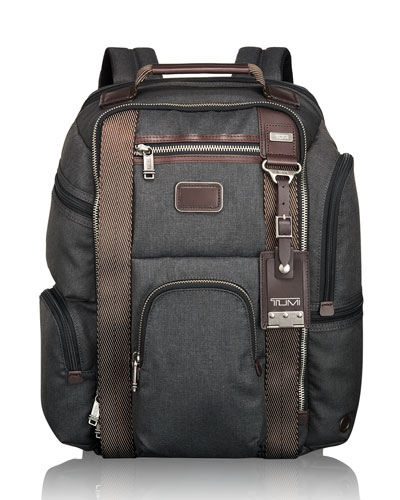 Tumi Alpha Bravo Hickory Kingsville Deluxe Brief Pack