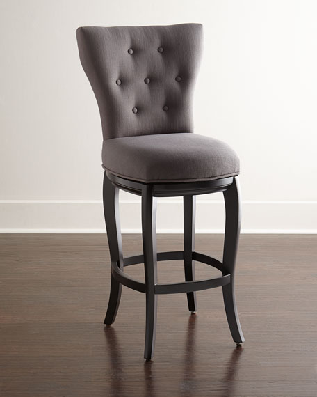 Neimanmarcus Dylin Tufted Swivel Counter Stool