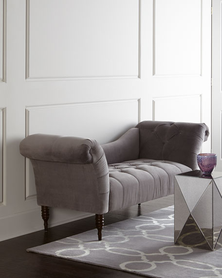 Marlow Tufted Gray Settee