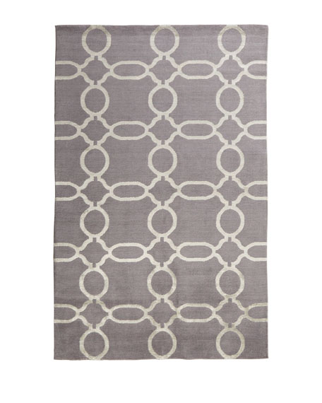 Gray Links Rug, 4' x 6'