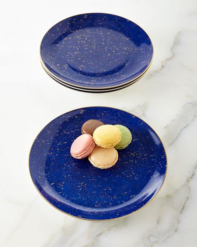 Four Lapis Dessert Plates