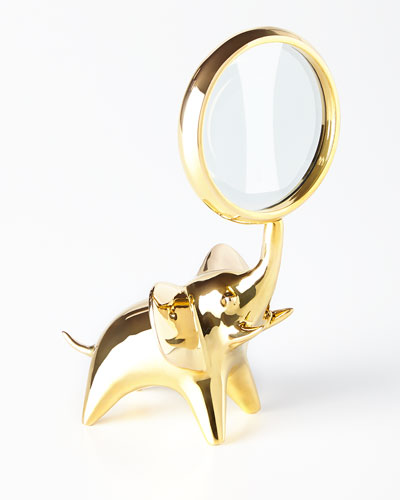 Brass Elephant Magnifying Glass