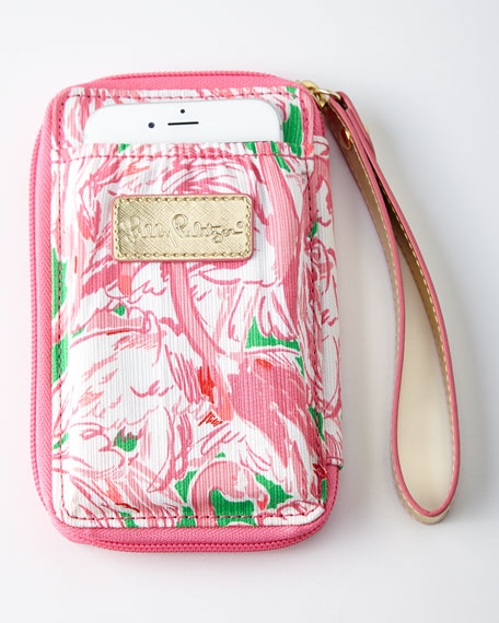 Prep Pink Carded ID Smartphone Wristlet