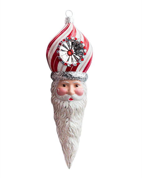 Patricia Breen Vendome Claus Santa Head Christmas Ornament