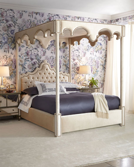 Haute House William Queen Canopy Bed