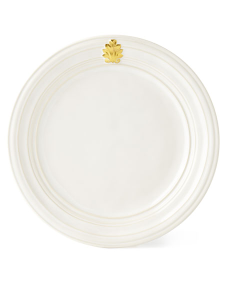 Juliska Acanthus Gold Leaf Dinner Plate