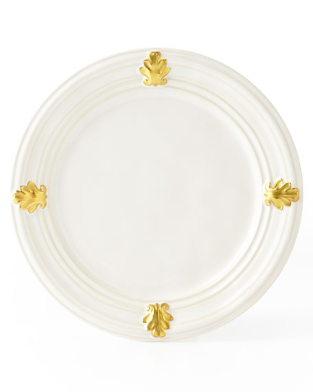 Juliska Acanthus Gold Leaf Salad Plate