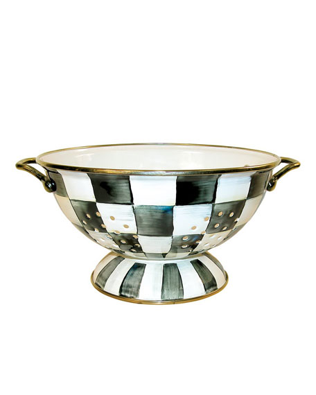 MacKenzie-Childs Courtly Check Colander