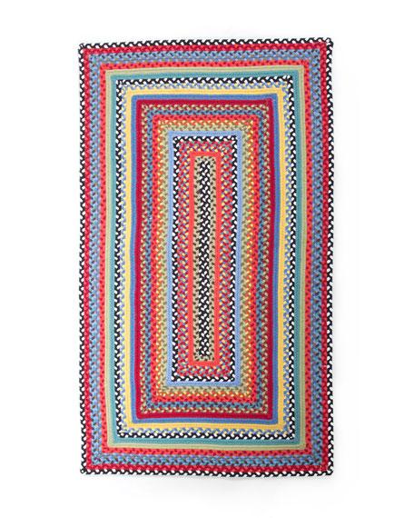 MacKenzie-ChildsCrayon Braided Rug, 3' x 5'
