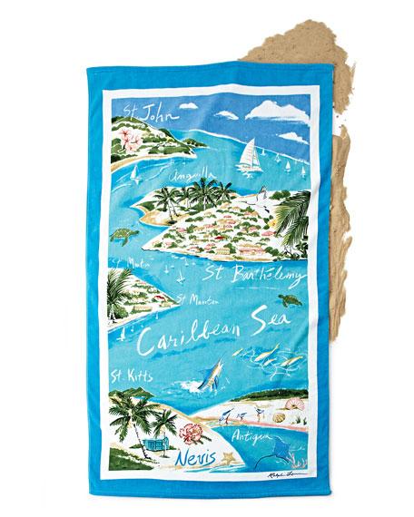 Caribbean Destination Beach Towel