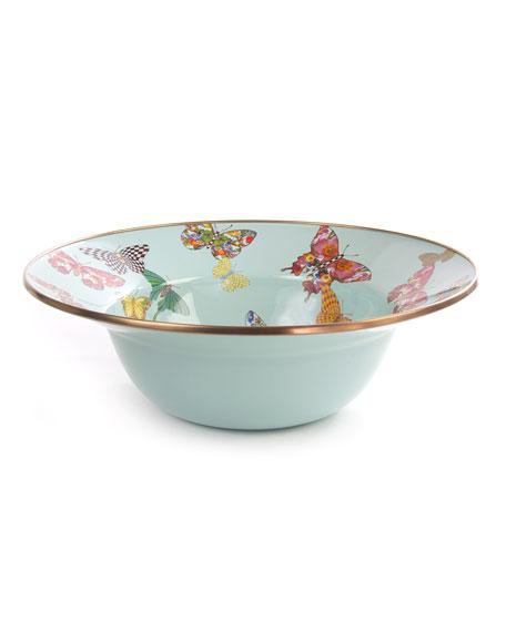 MacKenzie-Childs Sky Butterfly Garden Serving Bowl