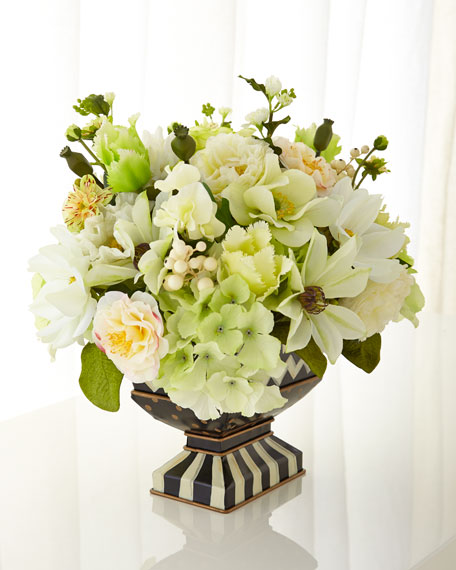 MacKenzie-Childs Cutting Garden White Centerpiece