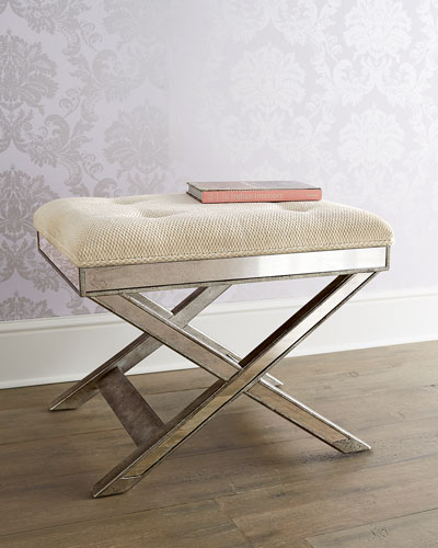 Lila Mirrored X-Stool