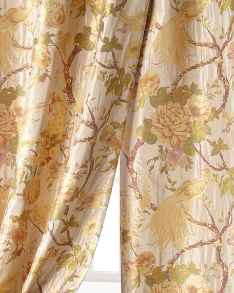 "96""L Fanciful Pheasant Curtain"