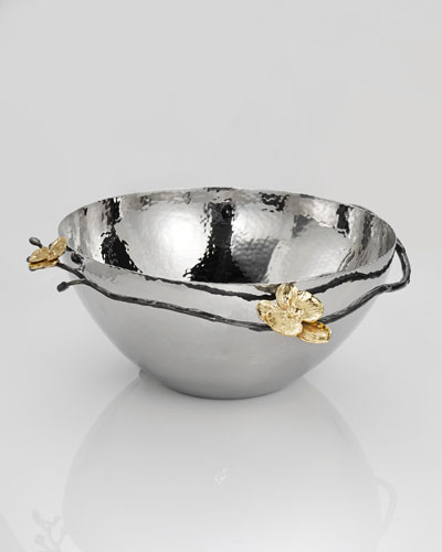 Gold Orchid Large Serving Bowl