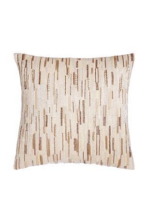"Austin Horn Collection Luminous Sequined Pillow, 18""Sq."