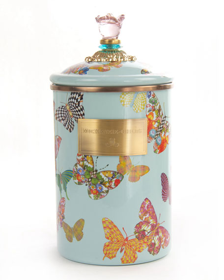 Sky Butterfly Garden Large Canister