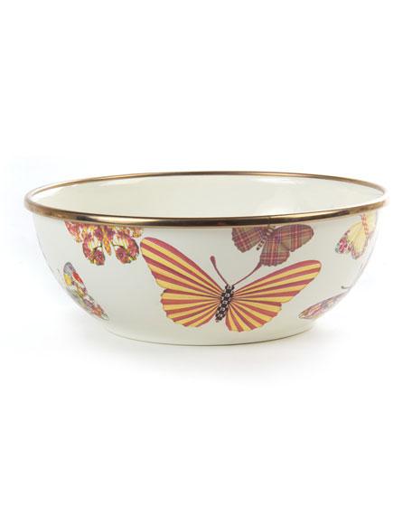 MacKenzie-ChildsWhite Butterfly Garden Everyday Bowl