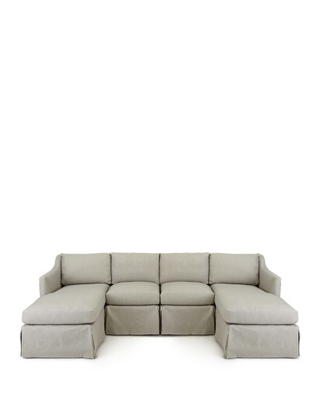 Harrison Vesper Outdoor Sectional, Armless Chair, and Pillow