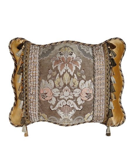 French Chateau King Pieced Sham with Floral Center