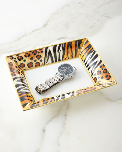 Animal Print Trinket Tray