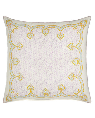 English Garden Nahar Hand-Embroidered Pillow, 26