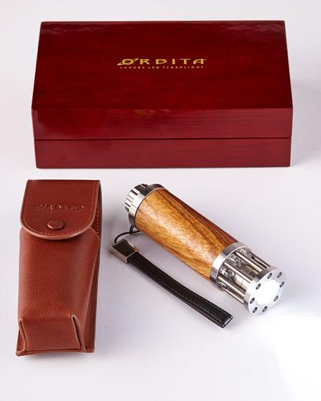 Orbita Zebrawood Luxury Flashlight