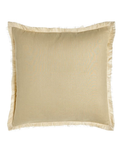 Bisque Fringed Linen Pillow