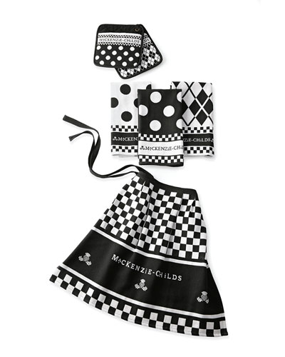 Black & White Kitchen Linens Set