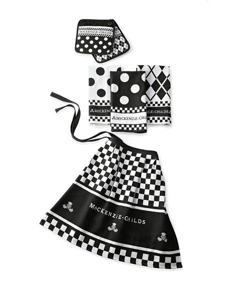 MacKenzie-ChildsBlack & White Kitchen Linens Set