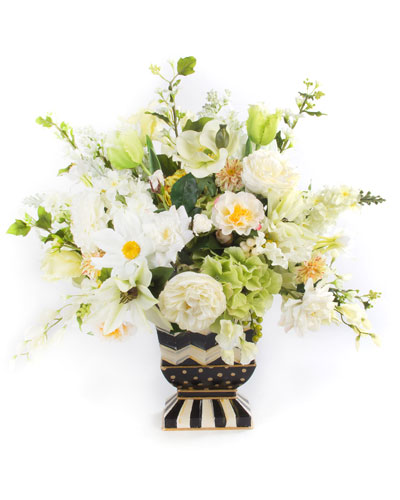 Cutting Garden White Mantel Bouquet