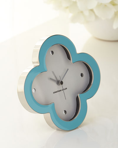 Quatrefoil Desk Clock