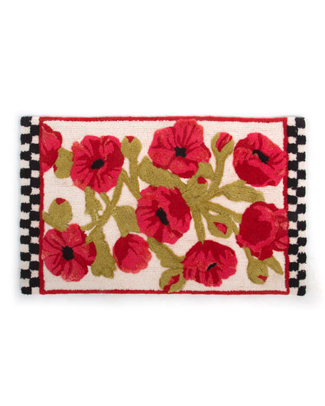 MacKenzie-Childs Poppy Bath Rug