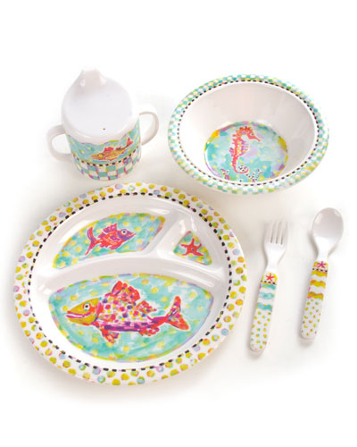 Toddler's Happy Fish Dinner Set