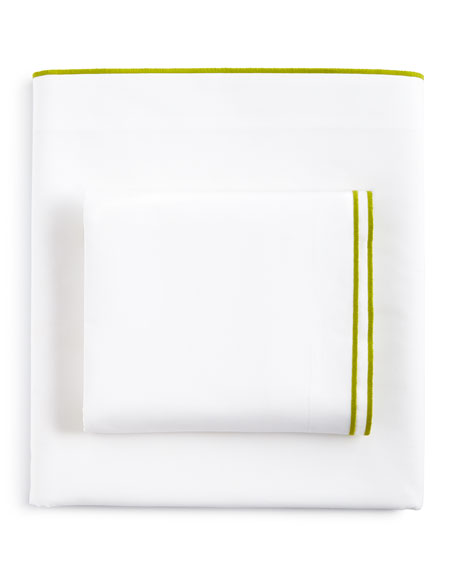 Astor Moss Queen 400TC White Fitted Sheet
