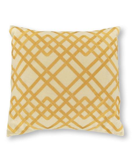 "16""Sq. Tropical Lily Lattice Pillow"