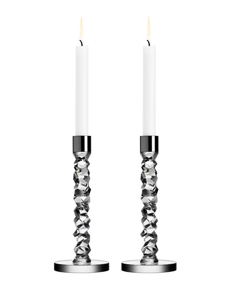 Orrefors Two Carat Candlesticks