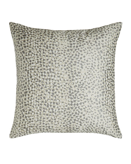 Surface Metallic Pearl-Print Silk Pillow, 18