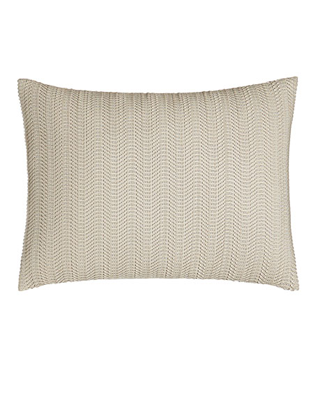 Donna Karan Home Moonscape Faux-Leather Pillow, 12