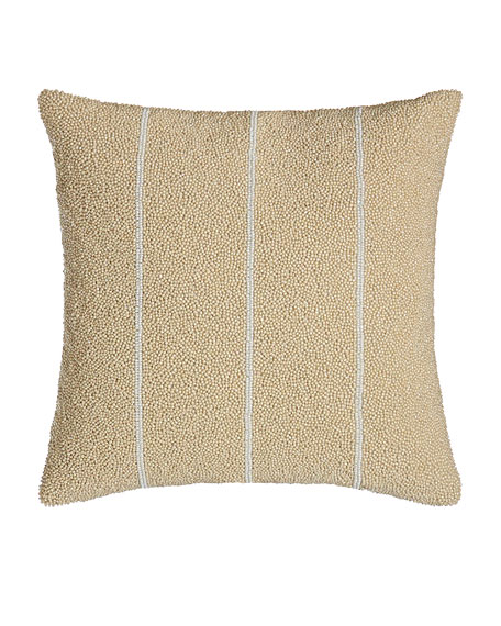 Donna Karan Home Moonscape Bead Stripe Pillow, 12