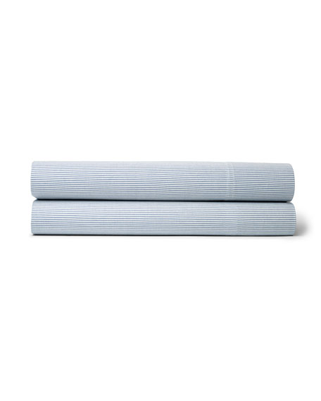 Twin Westlake Blue Stripe Flat Sheet
