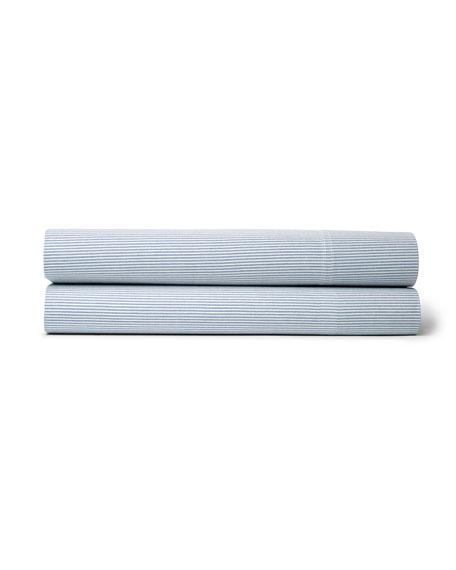 Ralph Lauren Twin Westlake Blue Stripe Flat Sheet