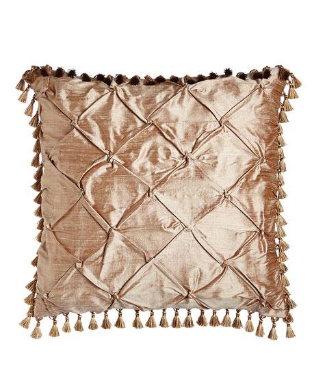 Dian Austin Couture Home Modern Maiden Silk Diamond-Pintuck