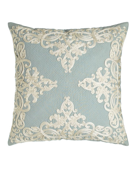 "Rienzo 22""Sq. Pillow with Quilting Detail"