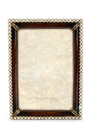 """Jay Strongwater Stone Edge 4"""" x 6"""" Picture Frame"""